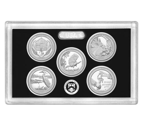 2015S 2014S SILVER PROOF Mint National Park Quarter ATB 10 Coins NO BOX COA