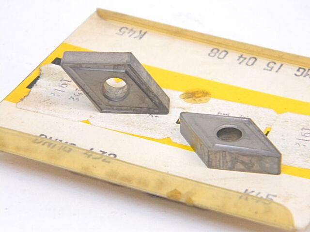NEW 5PCS. KENNAMETAL DNMG 432  GRADE: K45  CARBIDE INSERTS