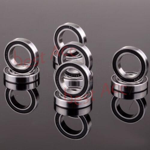 15x24x5mm 10PCS 6802ZZ 15*24*5 Black Rubber Sealed Ball Bearing RC Model fit