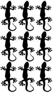 9-Gecko-Aufkleber-je-ca-8cm-Auto-Motorrad-Roller-Fahrrad