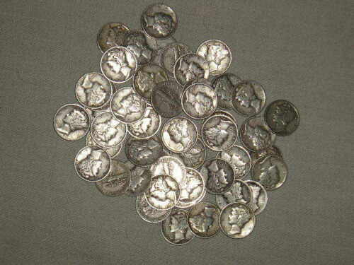1//2oz 90/% Silver Mercury Head Dimes 1920/'s-40/'s FREE Bonus Avail~ Read Listing