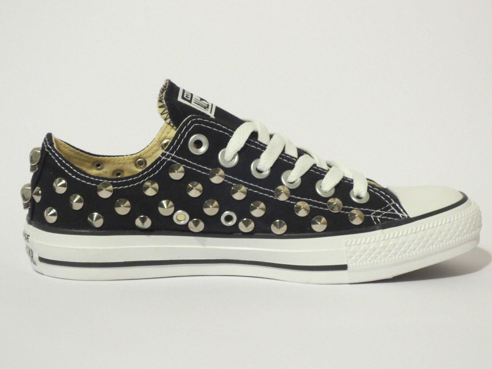 Converse scarpe all star OX  borchie teschi  scarpe Converse donna uomo NERO artigianali 7d43f8