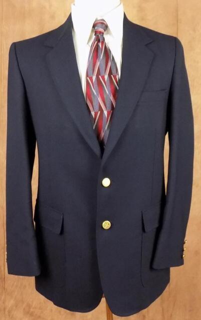ARNIE~Mens~Navy Blue~2 Button~Single Vent~LS~Sz 42 L~Sport Coat~Blazer