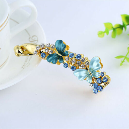 Women Banana Hair Clip Claw Holder Butterfly Resin Hairpin Ponytail Vintage