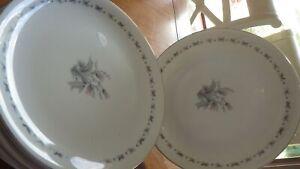 Seyei-Fine-China-Dinner-Plates-Japan-Teresa-service-6-3536-EUC-platinum-trim
