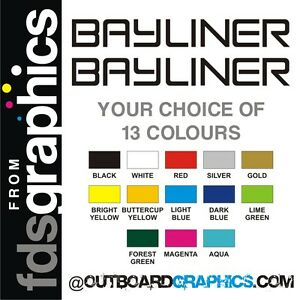 Details about Pair of 710mm (28 inch) Bayliner stickers/decals