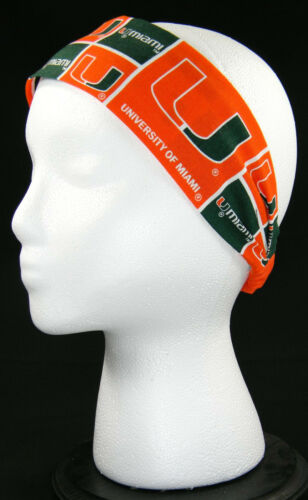 University of Miami Hurricanes 100/% Cotton Headband US Veteran Seller