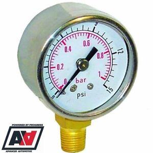 0-15 PSI//0-1 bar FSE Fuel Jauge de pression et des essais de pression Kit