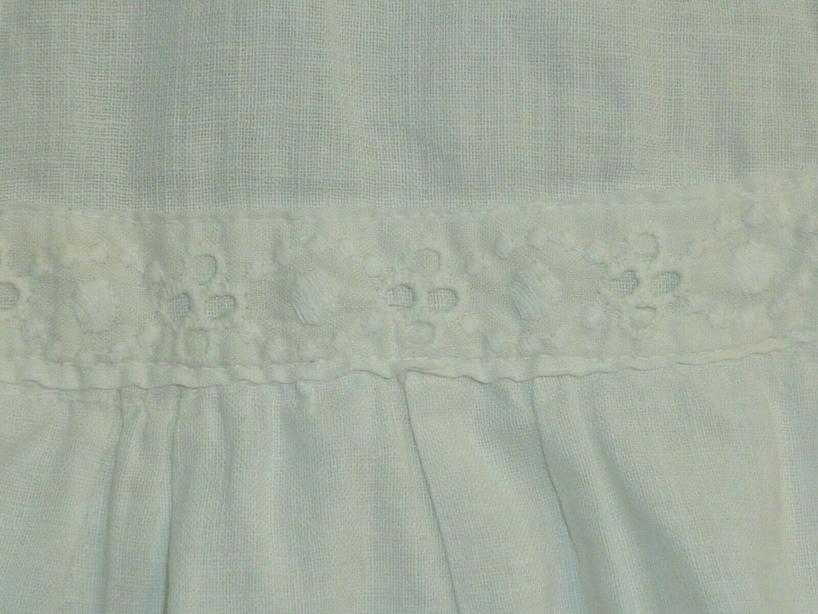 Antique LINEN Skirt~Embroidered Eyelet Lace Petti… - image 6