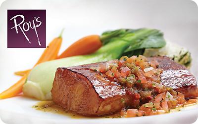 $50 Roy's Hawaiian Asian Fusion restaurant Gift Cards