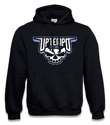 """Amichevole Gabber Hooded Sweatshirt Hardcore Terrorista """"uptempo Skull"""" Frenchcore Maglione Nuovo- Alta Sicurezza"""