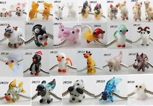 1pcs-MURANO-GLASS-BEAD-LAMPWORK-Fit-European-Charm-Bracelet-lovely-Animal