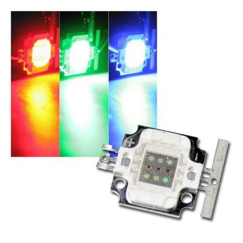 Hochleistungs LED Chip 10W RGB 350mA je rot grün blau 10 Watt Highpower ECKIG