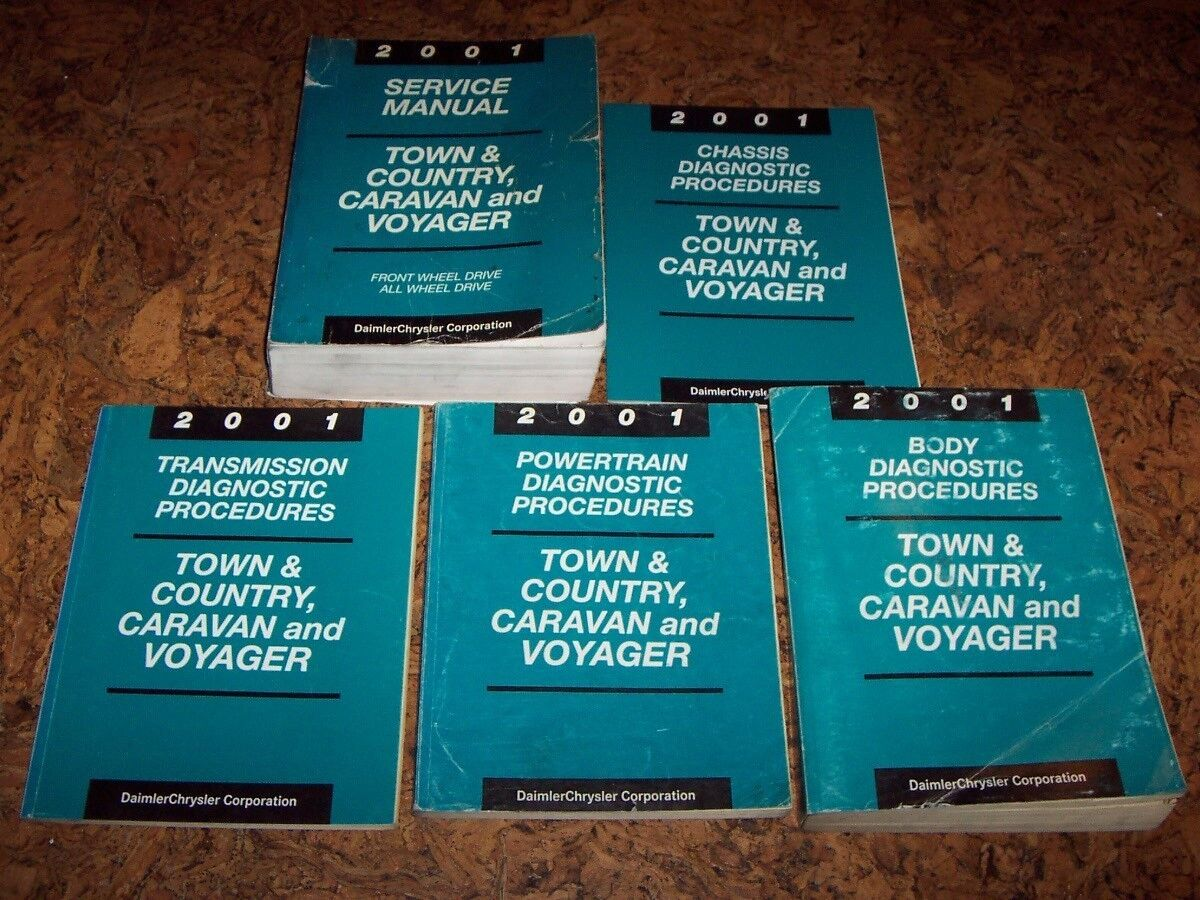 2001 Chrysler Town and Country Shop Service Repair Manual Set LX EX LXi Limited