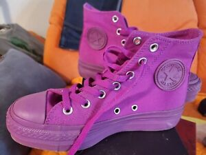 71b2e405eb10a1 All Star Converse Chuck Taylor Platform Hi Purple Cactus Size 6.5 ...