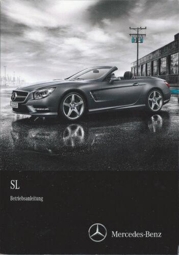 MERCEDES CLASSE SL R 231 manuale di istruzioni manuale 2014 400 500 63 65 AMG BA