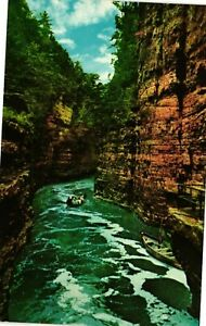Vintage Postcard - Start of Boat Ride At Ausable Chasm New York NY #1696