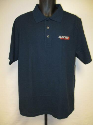 New Hilton Head South Carolina SC Mens Size L Large Blue Polo Shirt