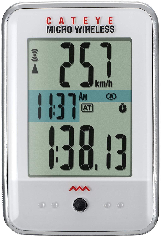 CatEye Micro Wireless CC-MC200W Bicycle Computer - WHITE - NEW