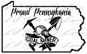 proud pennsylvania coal miner vinyl decal state outline with hardhat Vintage Pliers On eBay image is loading proud pennsylvania coal miner vinyl decal state outline