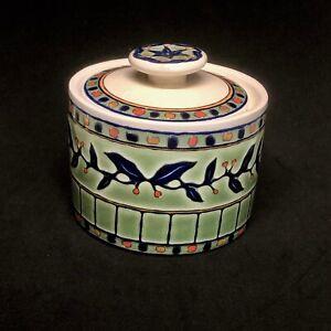 SANGO china EASTWOOD 3012 pattern Round Ceramic Box with Lid