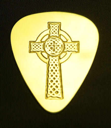 CELTIC CROSS Electric Acoustic Bass Solid Brass Guitar Pick
