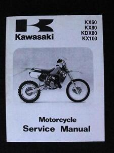 1986 1997 kawasaki kx60 kx80 kdx80 kx100 dirt bike motorcycle rh ebay com kawasaki kx60 parts manual Kawasaki KX80