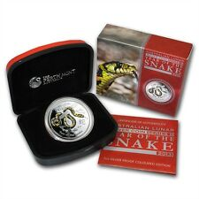 Perth Mint Australia 2013 Snake Colored Proof 1 oz .999 Silver Coin
