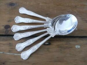 SET-6-SILVER-PLATED-KINGS-PATTERN-SOUP-SPOONS-EPNS-A1