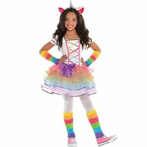 AMSCAN-Rainbow-Unicorn-Halloween-Costume-for-Girls-Medium-with-Included
