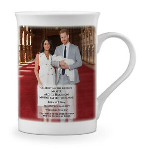 Coffee Mug Harry /& Meghan Archie Harrison Mountbatten Royal Baby Windsor