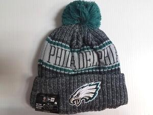 7c7d9baf2d3 Philadelphia Eagles New Era Knit Hat Graphite 2018 Sideline Beanie ...