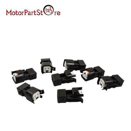 Set of 8 EV1 Jetronic to USCAR EV6 EV14 Fuel Injector Adapters Connectors