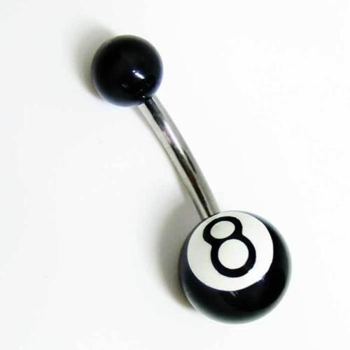 Steel Eight Ball Bauchnabel Banana Bauchnabelstecker Nabelpiercing Nabelstecker