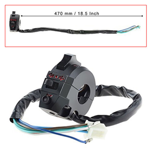 """Universal 7//8/"""" Switch Light Turn Signal Dual Sport Motorcycle Dirtbike Left Horn"""