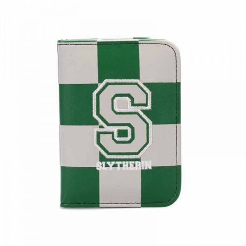 OFFICIAL HARRY POTTER VARSITY S FOR SLYTHERIN TRAVEL BUS PASS HOLDER WALLET