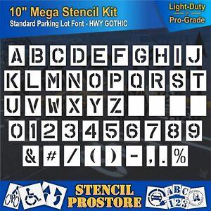 """28 Piece Pavement Stencils 10 inch ALPHABET KIT STENCIL SET - - 10/"""" x 7.5/"""""""