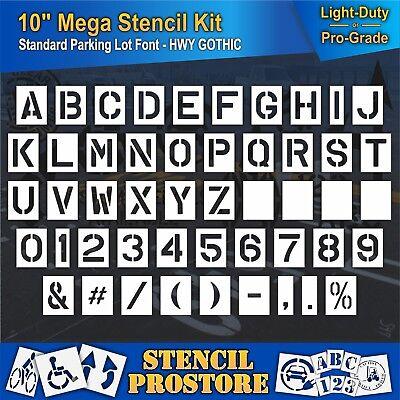 """Pavement Stencils - 10/"""" x 7.5/"""" 10 inch ALPHABET KIT STENCIL SET - 28 Piece"""
