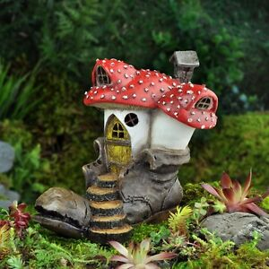 Image Is Loading Miniature Old Boot Clodhopper Mushroom House Cottage Gnome