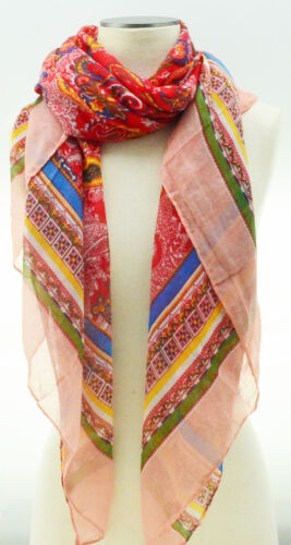 Patterned Oblong Long Hair Head Face Scarf Wrap Shawl Stole Style Fashion Women