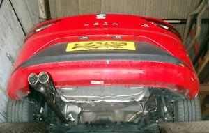 SEAT-Leon-1-4TSi-Mk3-Trasero-Silenciador-eliminar-Pipe-Twin-3-034-Tubo-de-escape-un