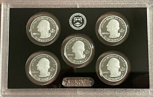 2019-S-Silver-Quarter-Proof-Set-5-Coins-No-Box-COA-Over-One-Ounce-999-Silver