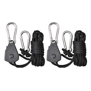"1/8"" Adjustable Grow Light YOYO Hanger Rope Reflector Clip for Grow Parts Supply"