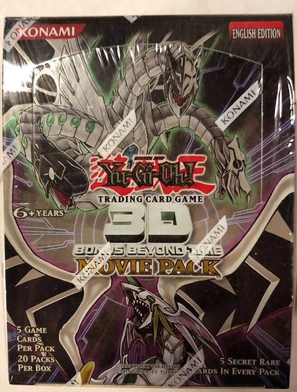 Yugioh 3D Bonds Beyond Time Movie Unl Edition 20-Count Booster Box TCG CCG Cards