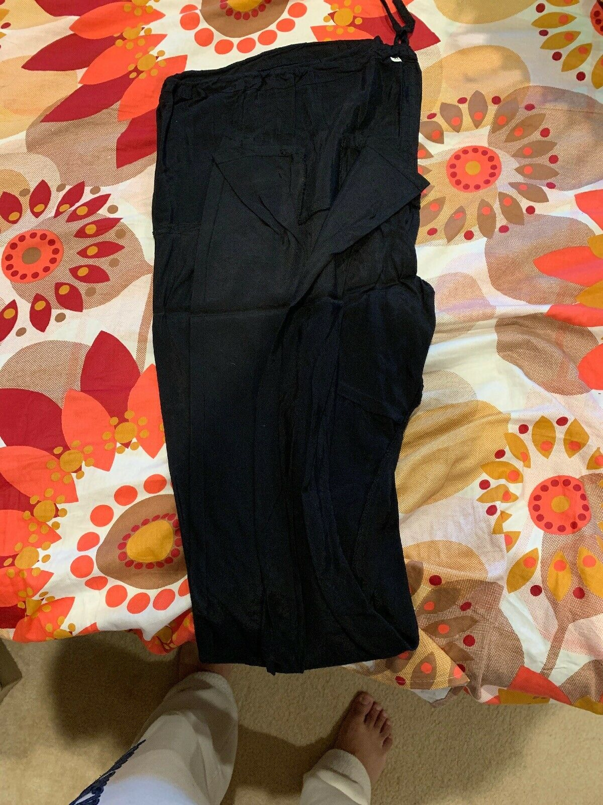 Beautiful indian party wear suit - Black And Oran… - image 11