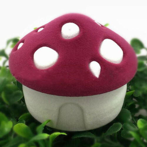 Small Mushroom House Shaped Ring Necklace Jewelry Boxes Organiser Holder Box S3
