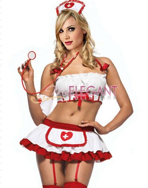 Lady Adult Women White Nurse Costume Halloween Fashion Outfit Dress Lingerie  sc 1 st  eBay & Nurses Cosplay collection on eBay!
