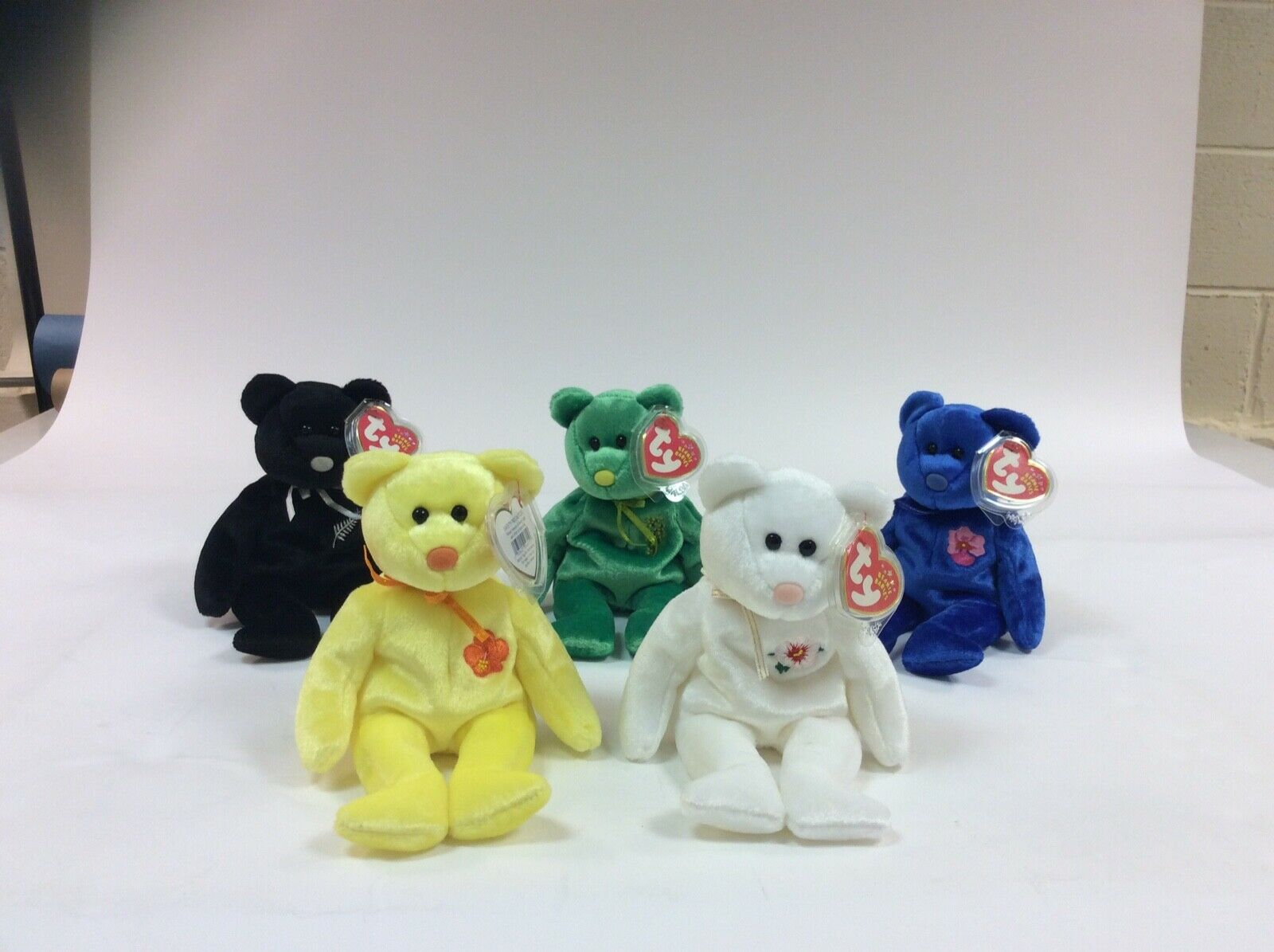 Set of 5 Asia Pacific ty beanie babies new with ear tags and felt noses