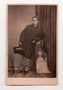 Vintage-CDV-Unknown-English-Gent-Top-Coat-amp-Hat
