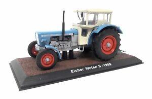 Atlas-Modellauto-Druckguss-1-32-Oldtimer-Traktor-1968-Eicher-Wotan-II